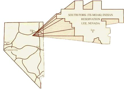 LOCATION AND LAND STATUS -- © Te-Moak Tribe of Western Shoshone